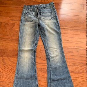 American Eagle Hi-Rise, Stretch, Flare Jeans.